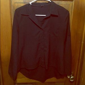 Tops - STILL FOR SALE*** black high low blouse